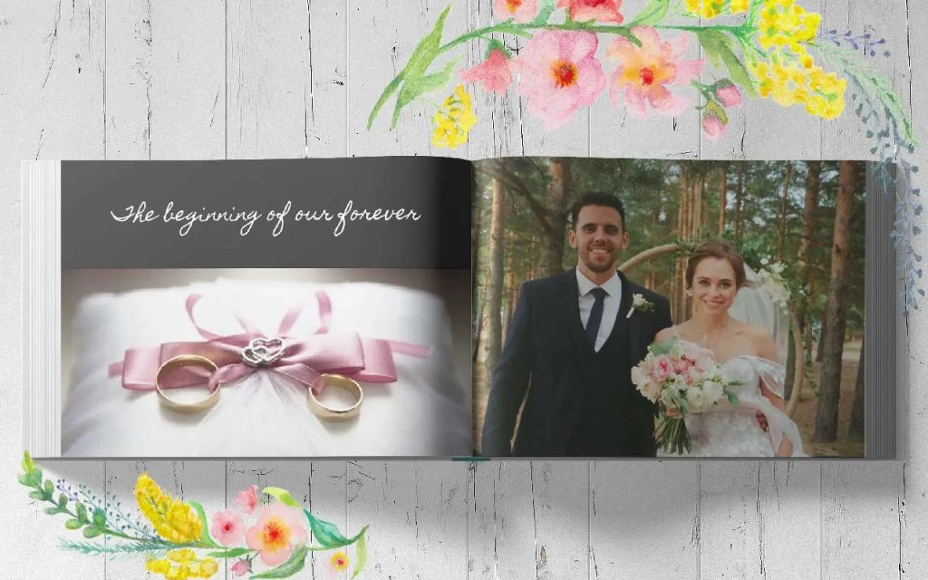 Photo Book custom gift idea Wedding day book