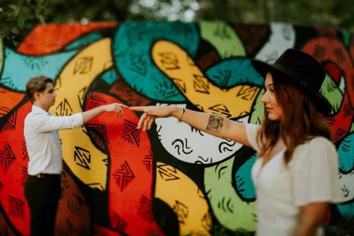 colorful art couples photo