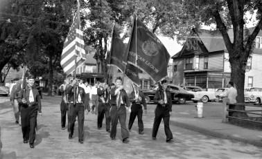 Am. Legion Parade in Chatham Philmont Legionnaires 1956