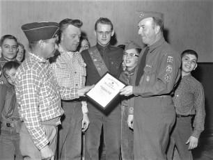 Boy Scout Troop 102 Scout Master Clow Hudson 1960