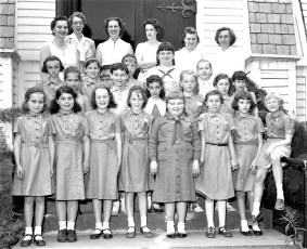 G'town Girl Scout Flying Up Ceremony from Brownies to Girl Scouts 1958