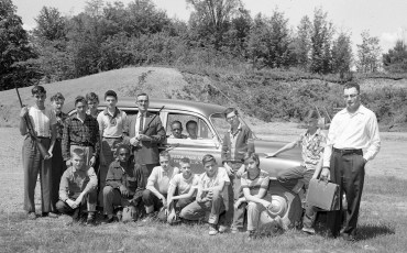 Chatham Union School hunter safety training with Tom Callahan 1955