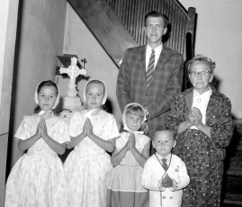 Leonard Bogucki Family at Church of the Resurrection G'town 1965