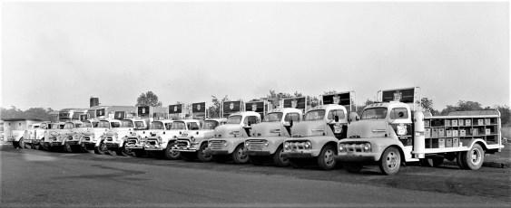 Canada Dry truck fleet Hudson Bottling Plant 1958 (3)