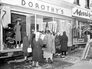 Dorothy's Dress Shop White Sale Hudson 1958