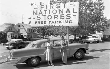 First National Store car winner Miss Mary Jezurski Hudson 1957