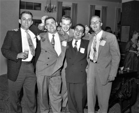 Friends partying at the General Worth Hotel Hudson 1956 (2)