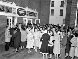 Movie Night at the Community Theater Hudson 1958