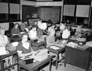N.Y.S. Training School for Girls Staff Typing Class Hudson 1957