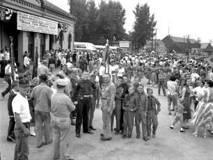World Premier of Walk The Proud Land awaiting visitors Hudson 1956