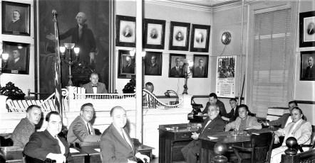 Hudson City Hall Common Council meeting Al Craft, Pres. 1961