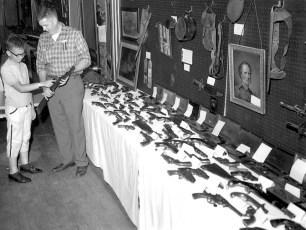 Hudson Fish & Game Club gun display 1962