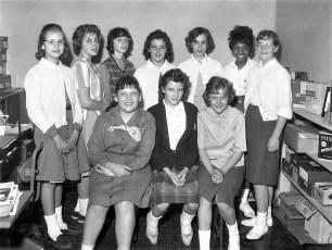 Hudson Girl Scouts Mrs. Sawyer's Troop 1961