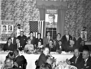 Mrs Roosevelt at Democrat fund raiser Hudson 1960