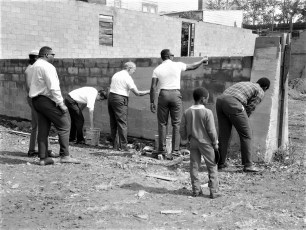 Hudson Jaycees cleanup at 2nd. & Columbia 1968
