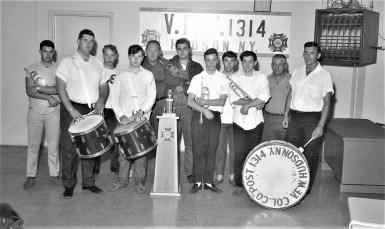 Hudson VFW Drum Corp. members 1968