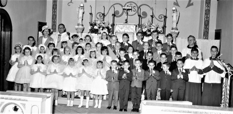 Mt. Carmel Church First Communion Hudson 1965