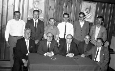 Smith's Tire Shop meeting at Kozals 1968