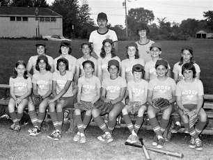 Girl's Softball League Teams 1975 (1)