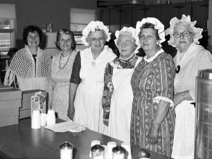 Sacred Heart Church Bazaar kitchen staff Hudson 1976
