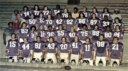 Vikings Football Team Hudson 1974