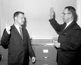 Col. Cty. District Attorney John Connors swearing in ceremony Dec. 1964 (1)