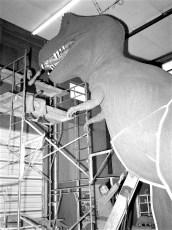 Paul Jonas sculpting dinosaurs for 1964 Worlds Fair 1963 (2)