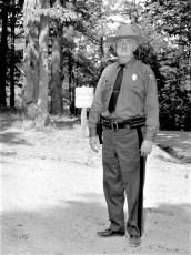 State Park Policeman Cunningham at Olana 1967
