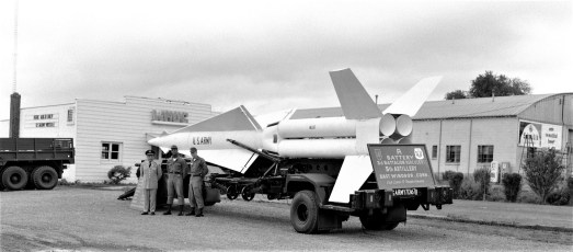 WHUC sponsored Army missile enroute to Col. Cty. Fair 1967