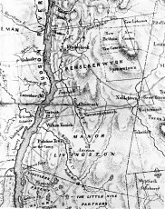 Early Map of Columbia County from Walter Miller 1976