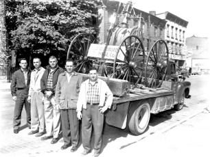 J.W. Edmonds members with fire apparatus 1959