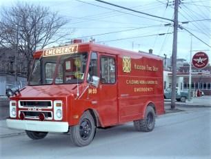 Hudson Fire Dept. C. H. Evans Emergency Truck 1969