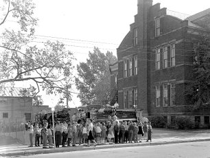 Hudson Fire Prevention Week St. Mary's Academy & 6th Street School 1963 (5)