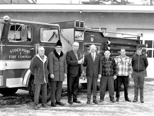 Stockport Fire Co. receives new pumper 1971 (1)