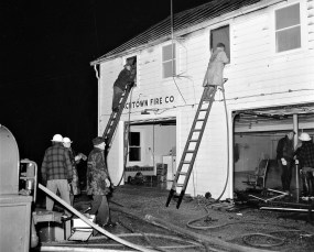 Churchtown Fire on top floor of the Firehouse Jan. 1959 (1)