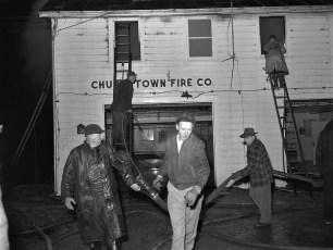Churchtown Fire on top floor of the Firehouse Jan. 1959 (2)