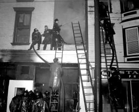 Hudson Fire 311 Warren St. Lincoln Hotel & Stanton Drug Store Dec. 1956 (4)
