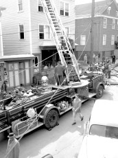 Hudson Fire Jack Thompson's Grill 2nd St. Mar. 1958 (1)