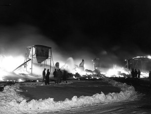 Hudson Fire McCall Refrigerator Co. Plant Feb. 1952 (1)