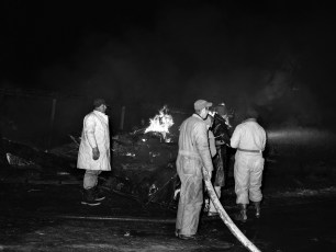 Clermont Fire Jansen's Barn Jan. 1968 (1)
