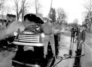 Clermont Fire truck fire Rt. 9 Mar. 1961 (2)