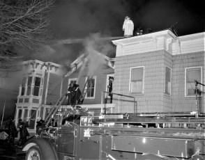 Hudson Fire 44 N. Fifth St. Waltermire's Store Jan. 1965 (4)