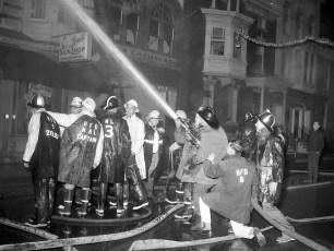 Hudson Fire Byron Parker Bldg. Warren St. Nov. 1966 (3)