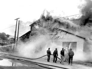 Hudson Fire Speer Lumber Building Oct. 1961 (1)