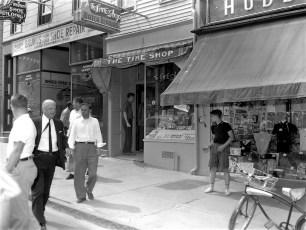 Hudson Fire Time Shop Warren St. July 1962