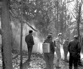 G'town Fire brush fire Woods Road Feb. 1976 (1)