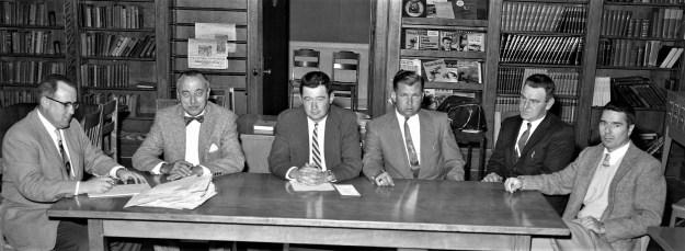 GCS BOE Mr's Mesick, von der Osten, Rider, Lasher, Kurzena and Dr. Orr 1957