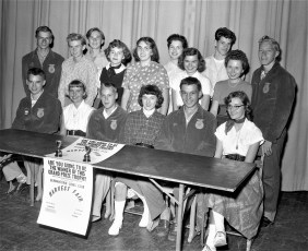 GCS F.F.A. Students in support of Lions Club's Harvest Fair 1956