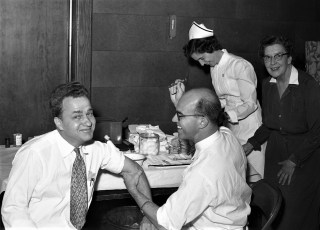 GCS Salk (Polio) Vaccination Howie with Dr. Askue 1955