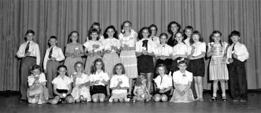 GCS Stage Show Cast 1951